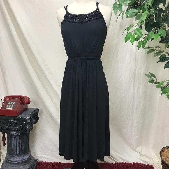 3124271049 LOFT Dresses   Skirts - Black LOFT belted sundress